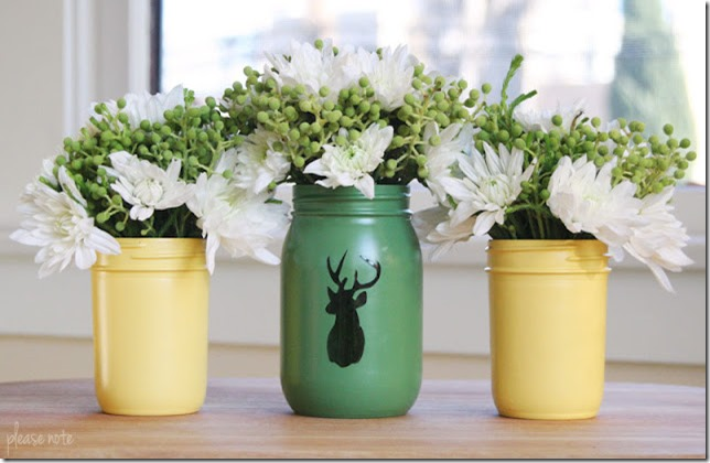 painted-mason-jars-spray-paint-with-deer-head