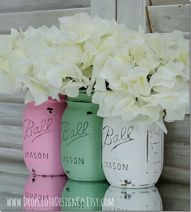 pink-green-white-painted-mason-jars-3