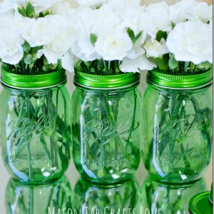 vintage mason jar green