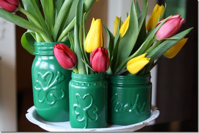 Mason Jar craft Ideas for st Patrick's Day