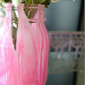 painted mason jar