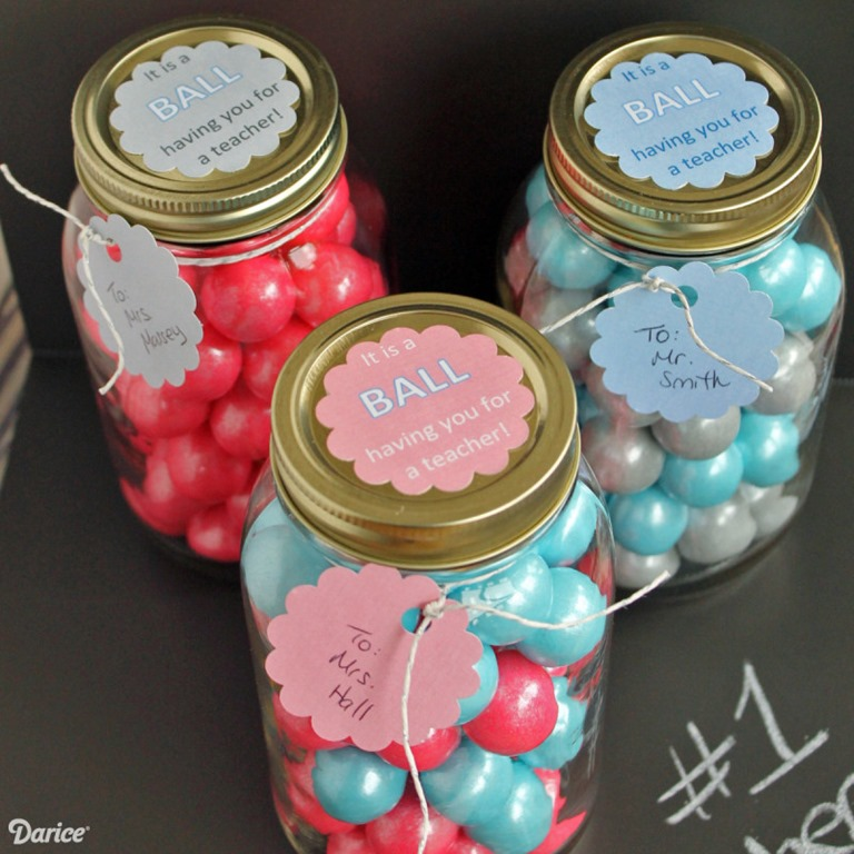 Teacher Gift Idea Mason Jar Crafts Love