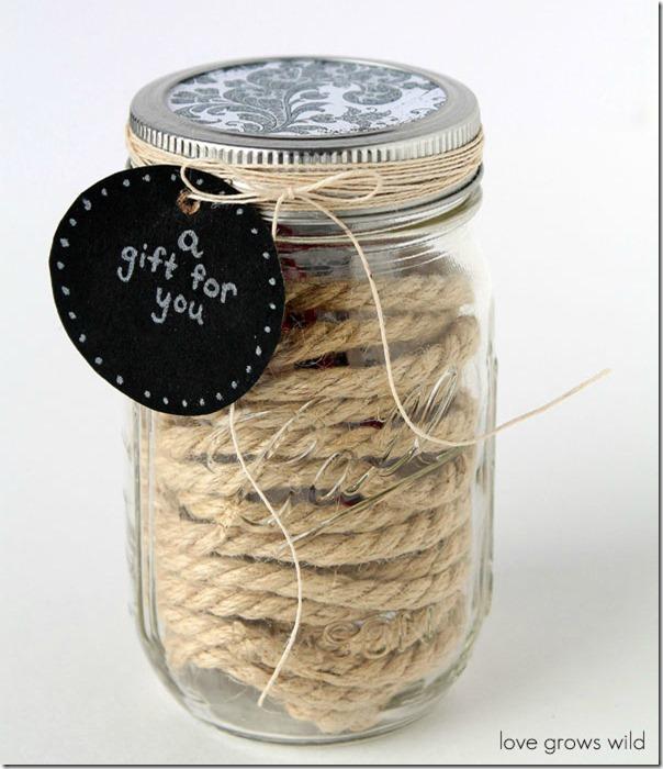 Mason jar gift card holder mason jar crafts love for Mason jar holder ideas