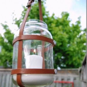Leather Mason Jar Hanger