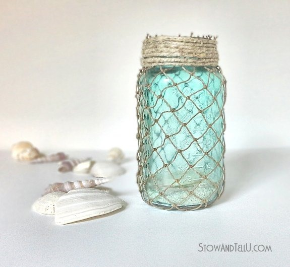 Nautical Mason Jars Mason Jar Crafts Love