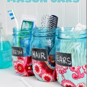 bathroom mason jars