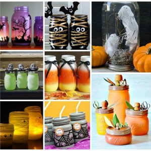 Halloween Crafts in Jars
