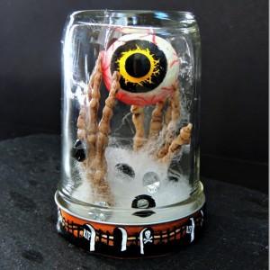 halloween craft with mason jar