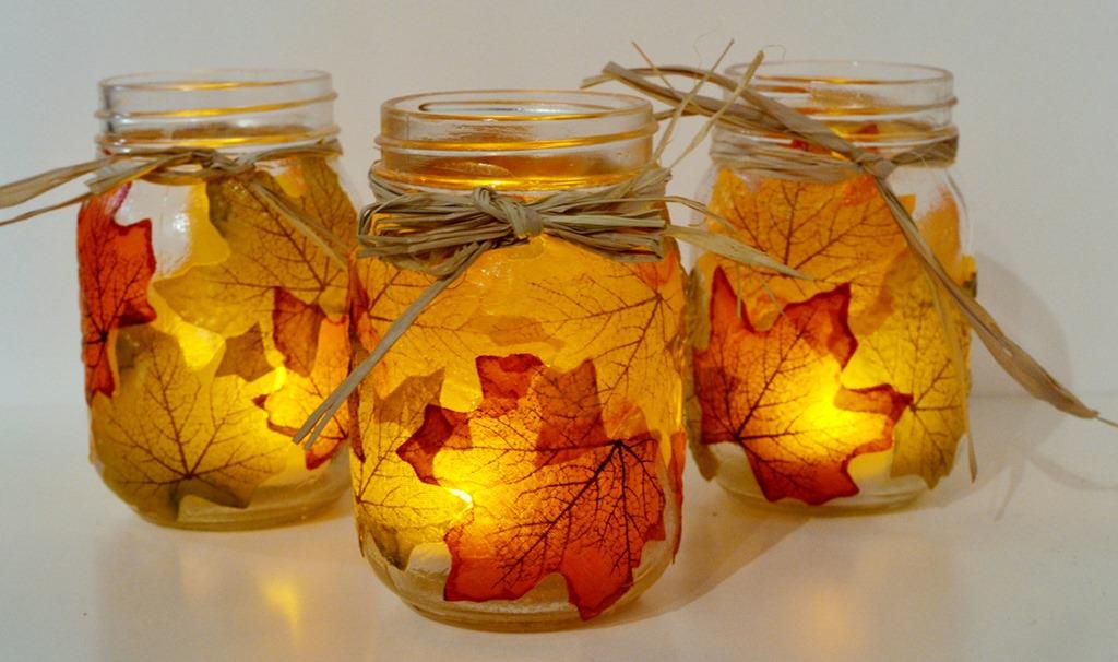 Fall Lantern Mason Jar Craft