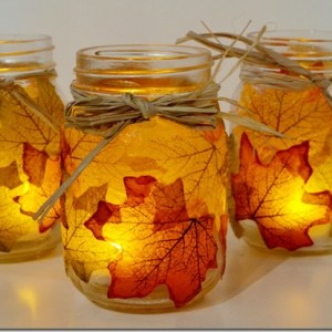 fall craft mason jar