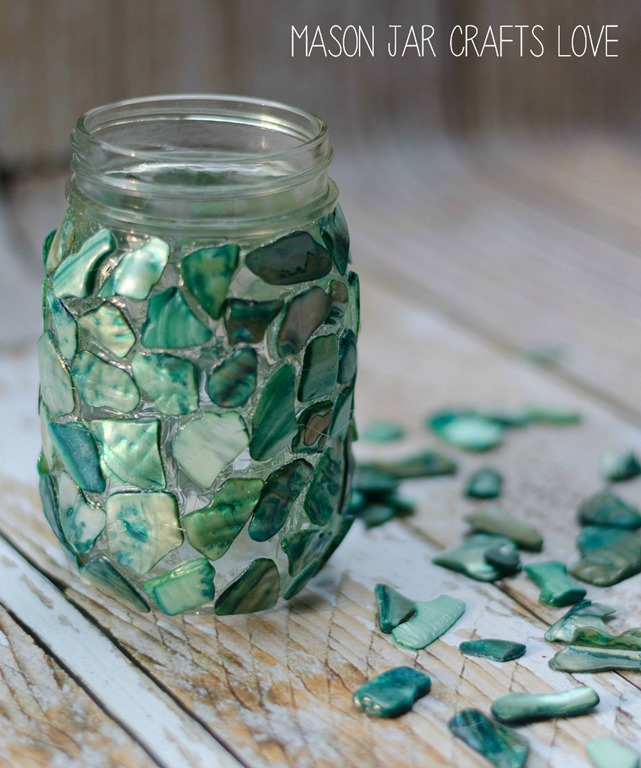 mosaic mason jar mason jar crafts love