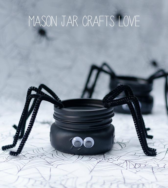Spider mason jars mason jar crafts love for Mason jar crafts love