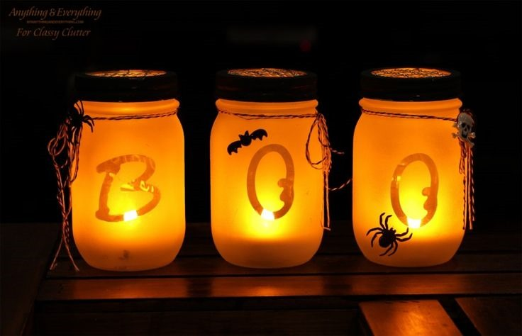 Halloween Boo Luminaries - Mason Jar Crafts Love