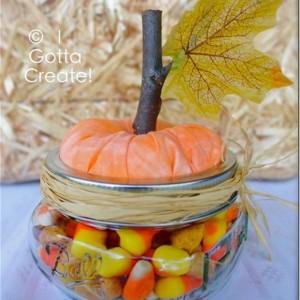 mason jar pumpkin craft