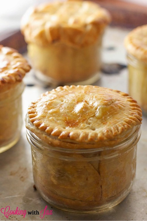 ... what my favorite part about these mini mason jar chicken pot pies