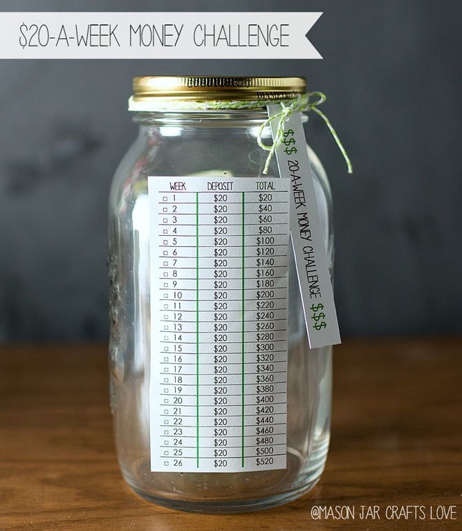 20 A Week Challenge Mason Jar Crafts Love