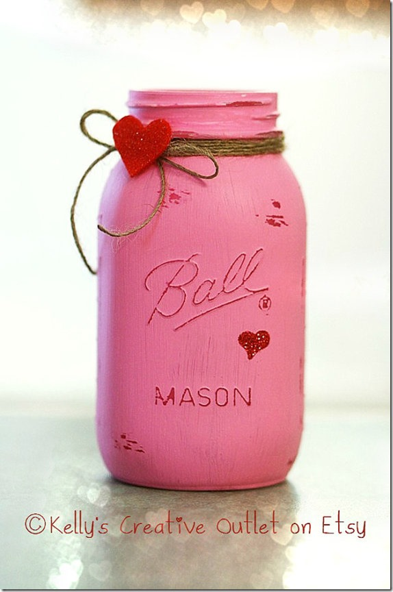 Valentine Mason Jars Mason Jar Crafts Love
