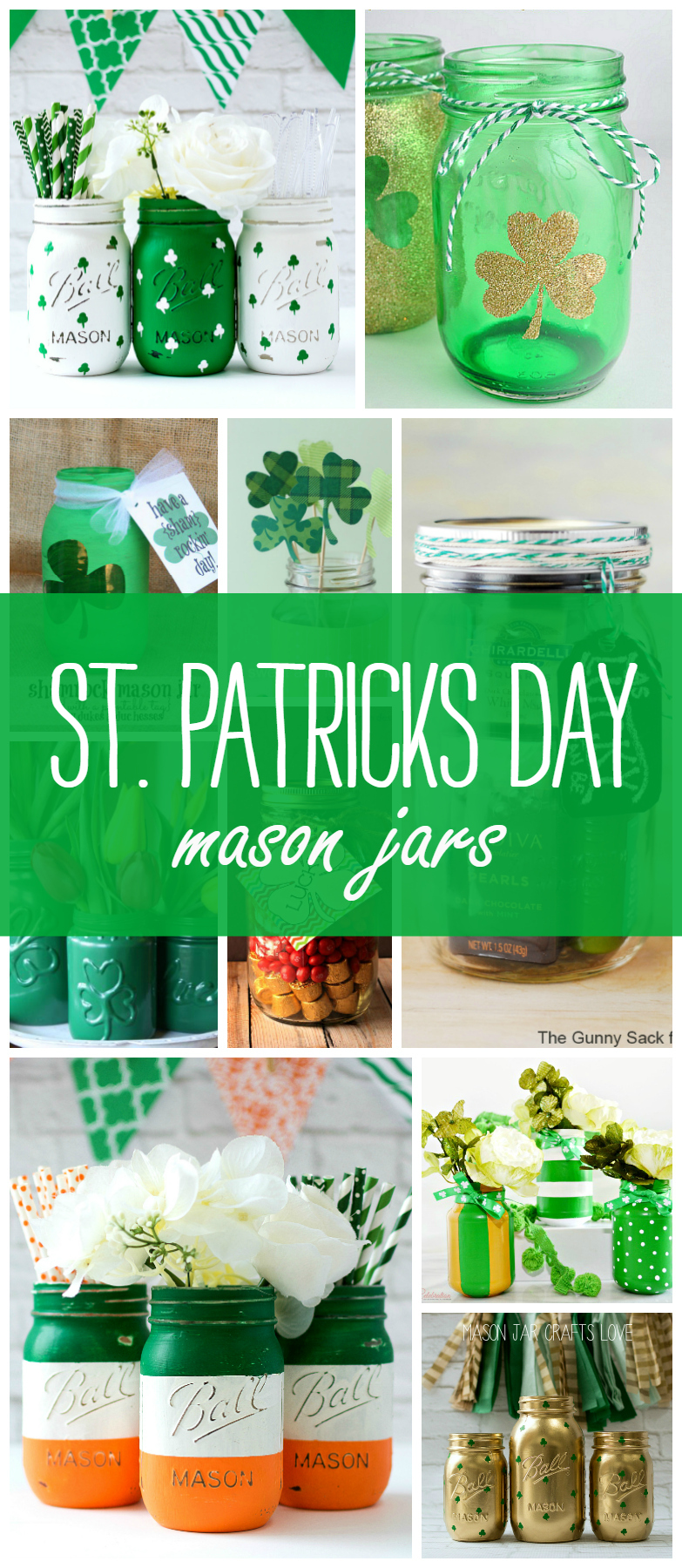 St. Patrick's Day Craft Ideas with Mason Jars
