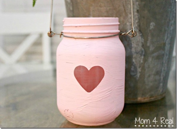Painted-Mason-Jar-Lanterns-For-Valentines-Day1