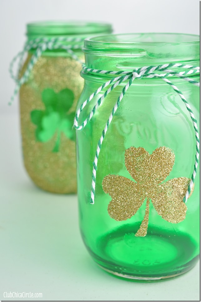 mason jar craft idea for St. Patrick's Day