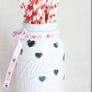 Painted Heart Jars