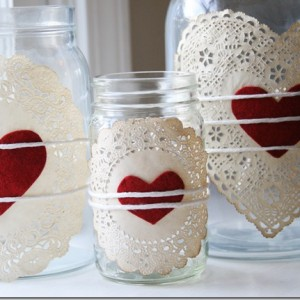 Doilies & Heart Jars
