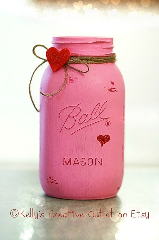 valentine s day crafts mason jar crafts love