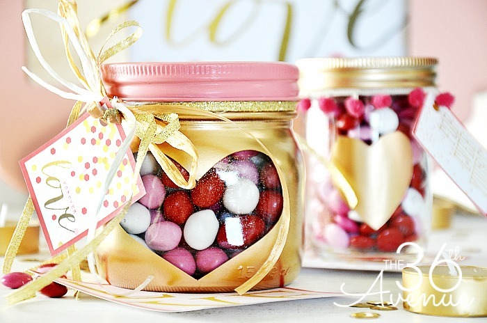 Gold Heart Mason Jars Mason Jar Crafts Love