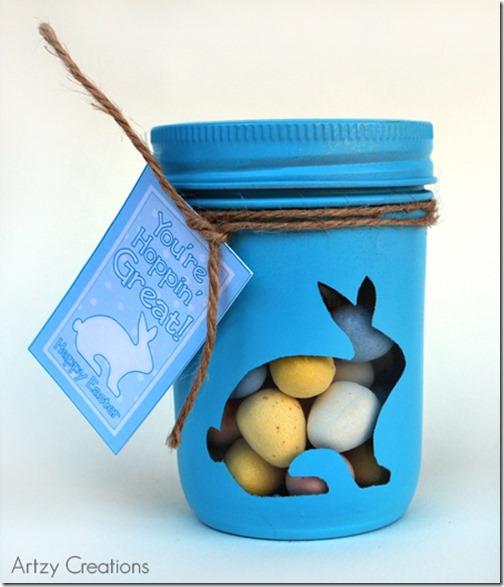 Bunny-Mason-Jars_@Artzy Creations