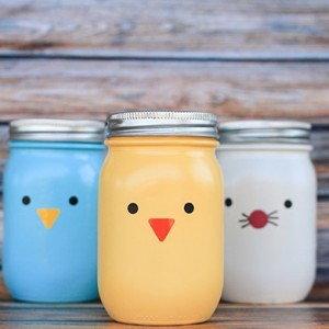 Chick, Bunny & Bird Jars