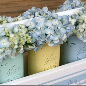 Spring Mason Jars & Caddy