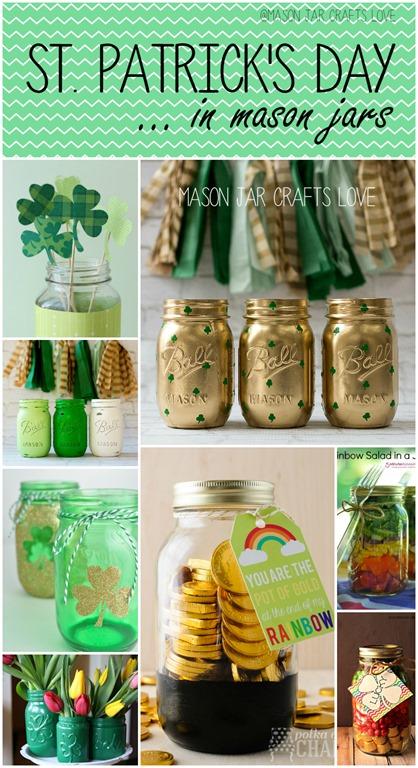 St patrick s day craft ideas mason jar crafts love for Mason jar crafts love