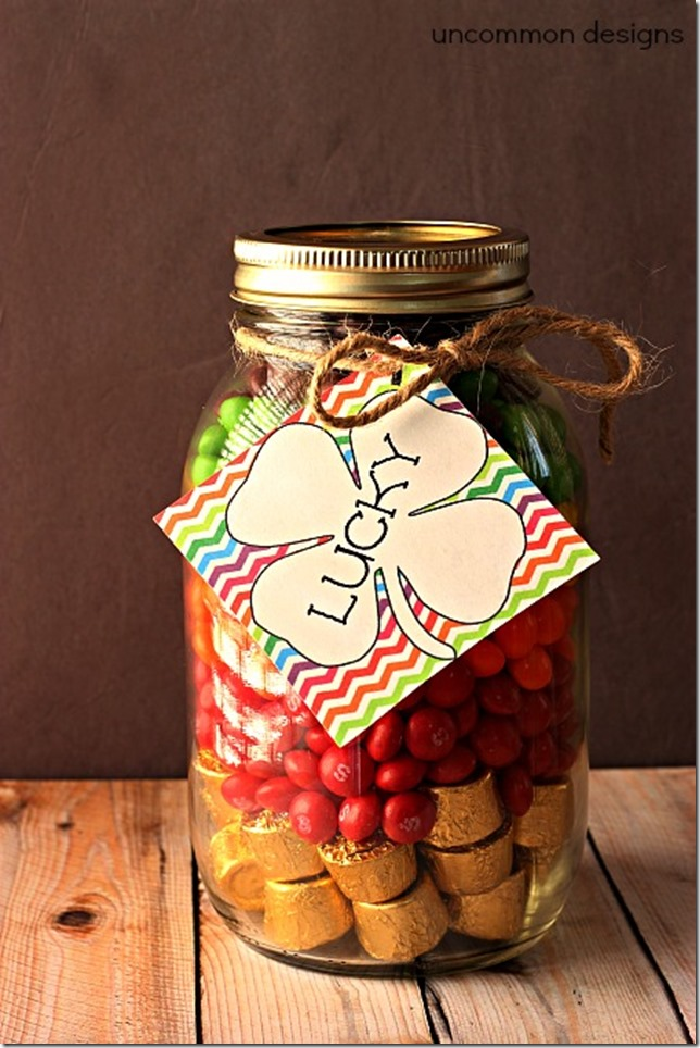 Mason Jar Craft Gift Ideas for St. Patrick's Day