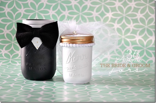 Mason-Jar-Crafts-The-Bride-and-Groom-Jars-the36thavenue.com-