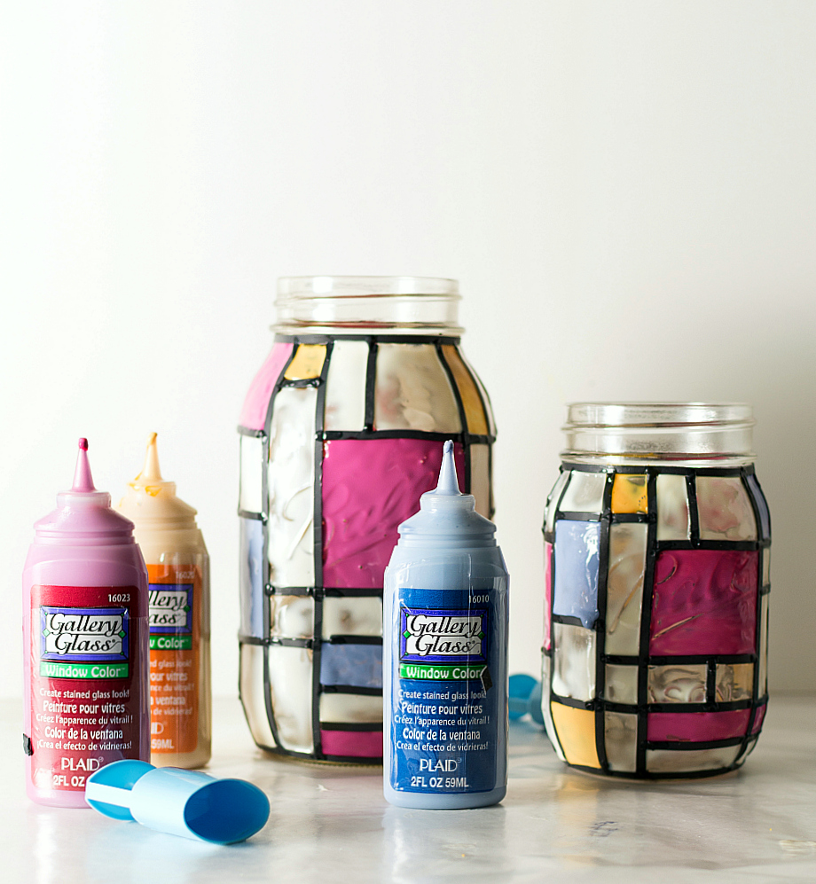 mason jar craft ideas stained glass mason