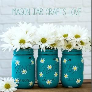 daisy mason jars hand painted daisies