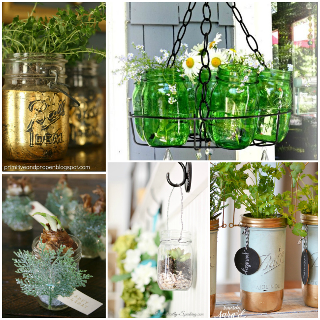mason jar crafts planters