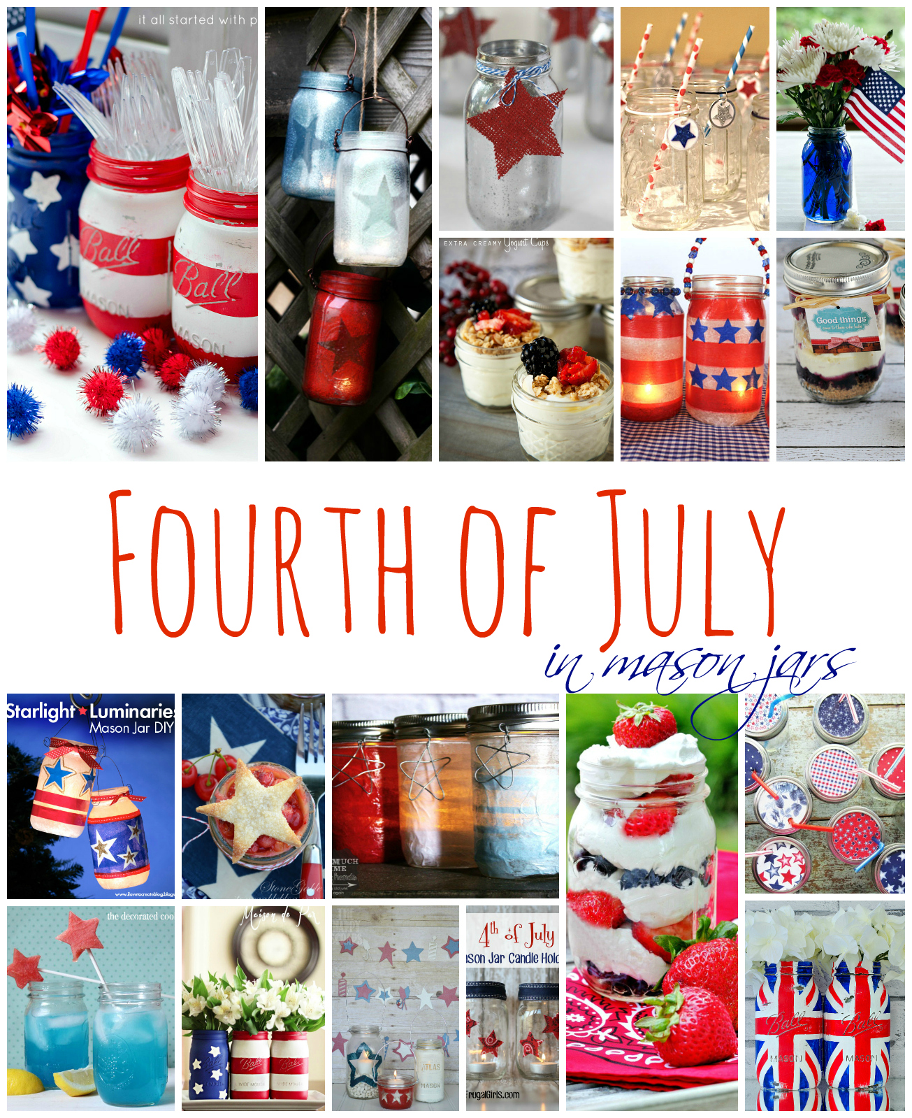 Crafts With Mason Jars Stars Stripes Mason Jars Mason Jar Crafts Love