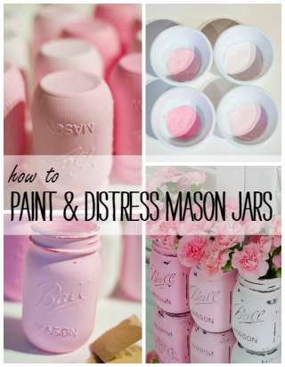 painted-distressed-mason-jars