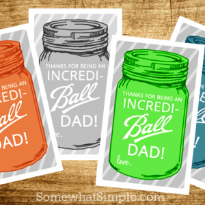 Free Printable Father's Day Gift Tags: Mason Jar Gift Tags