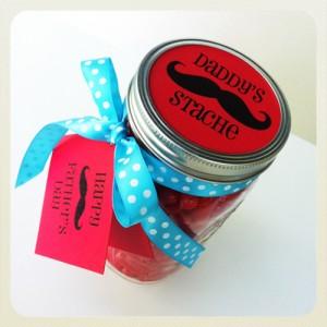 Father's Day Gift Idea: Mason Jar Treat Jar & Free Printable