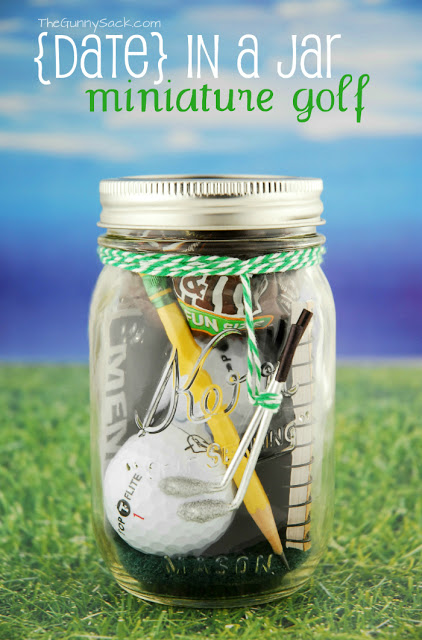 Father's Day Gift Idea: Mason Jar Golf Gift