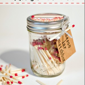 Mason Jar Craft: Matchbox