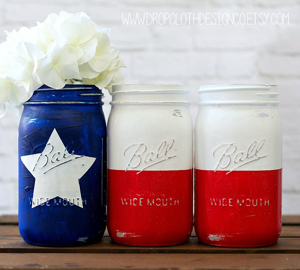 Texas Flag Mason Jar - Mason Jar Crafts Love