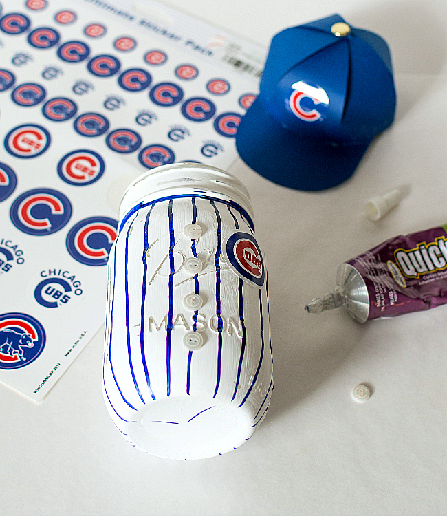 Mason Jar Crafts: Baseball Mason Jar Idea