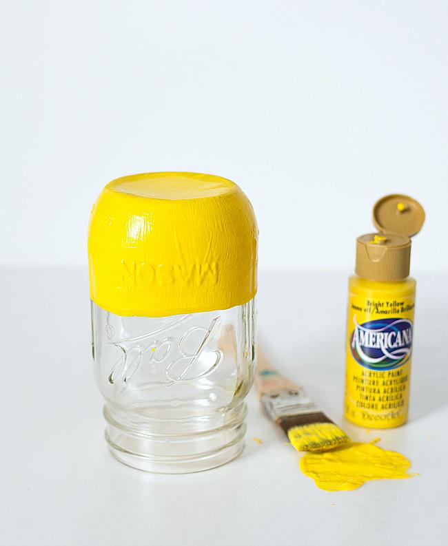 Mason Jar Crafts: Painted & Distressed Sunset Mason Jars