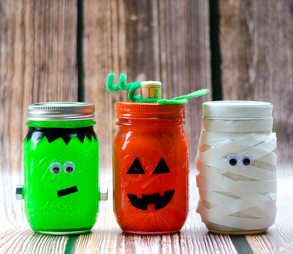 frankenstein mason jar craft jars jar crafts 4503