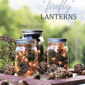 Mason Jar Craft Ideas: Fall Centerpiece Lighted Jars