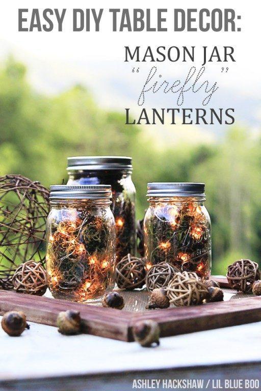 Fall Mason Jar Centerpiece Mason Jar Crafts Love