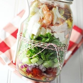 masonjar salad from Savoring The Thyme cobbsalad masonjarmeals find morehellip